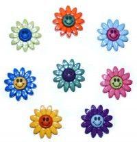Jesse James Buttons FLOWERS Dress It Up FLOWER POWER 402 ~ Sew Craft Scrap