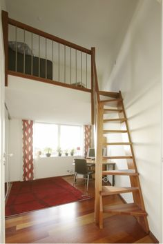 Space saving stairs in wood ideal for small spaces