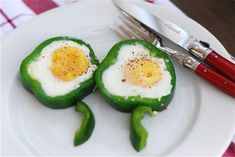 Shamrock Eggs by babble: Happy St. Patrick's Day!