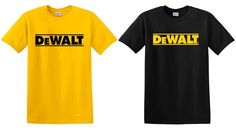 DeWalt tools t-shirt contractor handy man professional construction tools racing #seedescription #GraphicTee