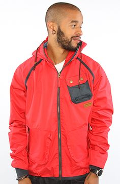 The Chute Jacket in Red by Supremebeing