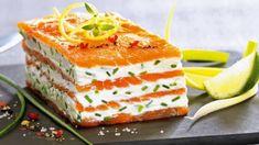 Mille-feuilles de saumon fumé au mascarpone citronné - Tasties Foods