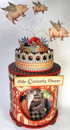 Olde Curiosity Shoppe Panaroma, created by The Gentleman Crafter for the Graphic45 Design Team Call