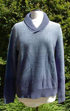 W's Lucky Brand Waverider Shawl Neck Sweater Blue Sz L $119.00 NWT #OriginalLuckyBrandCalifornia #ShawlNeck