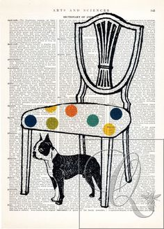 Hey, I found this really awesome Etsy listing at https://www.etsy.com/listing/385453596/dog-print-encyclopediadictionary-page