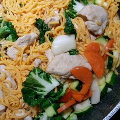 This traditional Japanese noodle dish includes cabbage and chicken in a spicy sauce. Chow Mein Noodle Recipe, Crispy Chow Mein Noodles, Asian Recipes, Healthy Recipes, Ethnic Recipes, Chinese Recipes, Chinese Food, Indonesian Recipes, Asian Foods