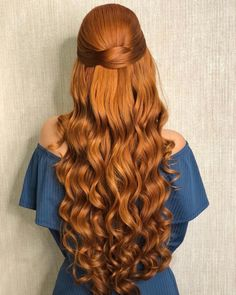 87 unique ombre hair color ideas to rock in 2018 - Hairstyles Trends Natural Red Hair, Long Red Hair, Wavy Hair, Dyed Hair, Ombre Hair Color, Ginger Hair, Gorgeous Hair, Hair Looks, Hair Trends
