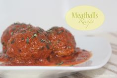 Meatballs Recipe - Mommy's Home Cooking