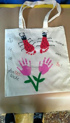 Tas voor mama textielverf