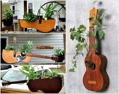 Eco-Friendly Guitar Planters