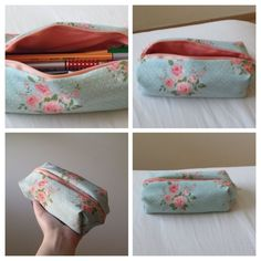 Make your own DIY pencil pouch or pencil case! Pencil Case Pattern, Pencil Case Tutorial, Zipper Pencil Case, Diy Pencil Case, Leather Pencil Case, Pouch Pattern, Pencil Pouch, Box Bag, Cool Pencil Cases