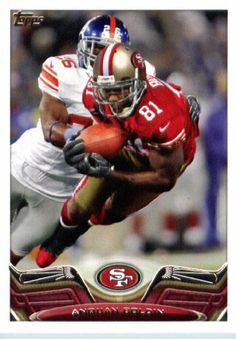 2013 Topps Football Card #40 Anquan Boldin / red jersey - San Francisco 49ers - NFL Trading Cards - http://nfledge.net/2013-topps-football-card-40-anquan-boldin-red-jersey-san-francisco-49ers-nfl-trading-cards/ - 2013 Topps Football Card #40 Anquan Boldin / red jersey – San Francisco 49ers – NFL Trading Cards Product Features  1 (One) Single 2013 Topps Football Card Card is NM-MT Condition or Better Card Ships in Top Load and / or Soft Sleeve Look for thousands of