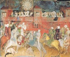 Subject: Cycle of frescos of the twelve labors of the months Location: Trento (Italy), Castello del Buonconsiglio (Bishops Castle), Torre del'Aquila (Tower of the eagle) Artist: otherwise unknown Master Wenceslas of Bohemia Date: after 1397, round about at 1400