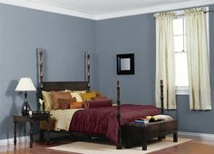 Behr Windsurf, Mike's pick for our bedroom wall color. Behr Paint Colors, Wall Colors, Playroom Colors, Accent Colors, Bedroom Colors, Bedroom Decor, Bedroom Ideas, Bedroom Inspiration, Bedroom Wall