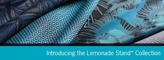 The Lemonade Stand™ Collection brings back the simpler times of our childhood – the county fair, summer camp, creative crafts and games – with a modern, mature approach. The four patterns are a touchstone to these timeless activities, which we now relive when playing with our own children. @PallasTextiles #design #color #textiles