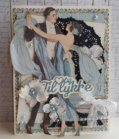 Art Deco Cards, Vintage Cards, 3 D, Scrap, Paper Crafts, Junk Journal, Frame, Card Ideas, Handmade