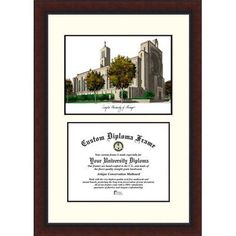 Campus Images NCAA Loyola University Chicago Legacy Scholar Diploma Picture Frame