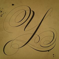 Old 'Y' by Martina Flor for letteringvscalligraphy.com