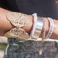 Accumulation de bijoux, the tendance http://lesprecieuses.fr/passion-collection-1342.html