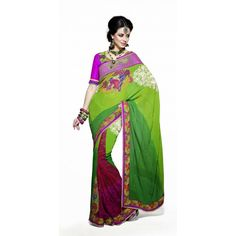 Indian Designer Stylish Wedding Bridal Heavy Fancy Saree Sari Blouse MG3013 by Ashta Fashions