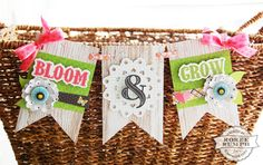 Bloom & Grow banner by Roree Rumph for Stamp & Scrapbook Expo