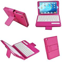 BESTEK 3 in 1 combo ipad mini bluetooth wireless keyboard + cover + stand, with built in rechargeable lithium battery BTBK029-rose red (cover with latch strap) Bestek,http://www.amazon.com/dp/B00EJ2QGWG/ref=cm_sw_r_pi_dp_2Diutb1TNT5AJY6D