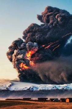 The 2010 eruption of Eyjafjallajökull  in Iceland by Gunnar Gestur