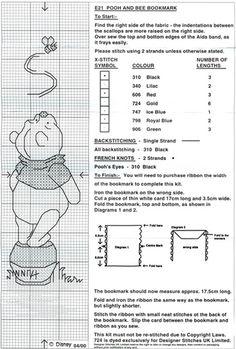 Schema punto croce Segnalibro Winnie