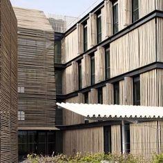 Construção em bambu. Lieusaint, França. Projeto da arquiteta Monica Donati. #architecture #arquitetura #arte #artes #arts #art #artlover #design #architecturelover #instagood #instacool #instadaily #design #projetocompartilhar #davidguerra #arquiteturadavidguerra #shareproject #bambu #leveza #bamboo #lightness #bambooarchitecture #bamboodesign #bamboo #bamboobuilding #france