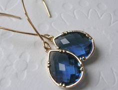 Sapphire dangle earrings / Christmas fashion  / by 2010louisek7, $30.00