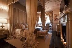 Unequivocal luxury.  What a splendid place to relax and sleep.