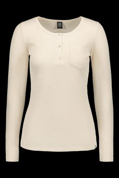 A beloved organic cotton Kaiko top, the Henley Shirt is now available in a soft Almond tone. A long sleeve shirt, made from the softest 100% organic cotton waffle rib. This classic flattering style which tapers in at the waist sits snugly and comfortably. The neckline is detailed with a snap button row. Featuring a front pocket. Pair up with Kaiko-dungarees for a sweet casual look. #kaikoclothing Ethical Fashion Brands, Ethical Clothing, Fair Trade Clothing, Henley Shirts, Dungarees, Clothing Company, Waffle, Sustainable Fashion, Fall Outfits