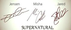 I love how Jensen and Misha's are all professional and then there is Jared's which just looks like he was on a sugar high