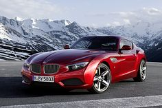 BMW unveiled a new concept: BMW Zagato Coupe. Milanese coachbuilder Zagato teamed up with BMW to create another emotional coupe. Bmw Z4, 3 Bmw, Luxury Sports Cars, Sport Cars, Lamborghini Aventador, Carros Lamborghini, Ferrari, Maserati Biturbo, M3 Cabrio