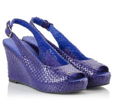 995d839a29bd Couleur Pourpre Sandals in purple woven nappa leather featuring  buckle-fastening sling-back strap