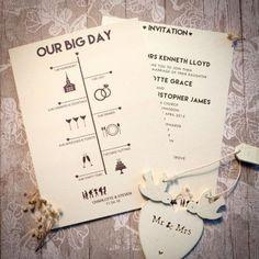 Wedding Invitation Post Card 5x7 Wedding invitation the Eliana