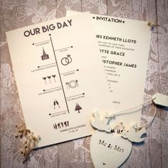Timeline Day Invitation | Wedding Invitations