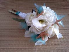 Beach Wedding Bridal Bouquet With starfish by BeachWeddingStore, $95.00