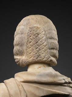 Marble bust of a woman century AD Roman Hairstyles, Medieval Hairstyles, Marble Bust, Hair Flow, Roman Art, Medieval Clothing, Beautiful Long Hair, Ancient Rome, Romans