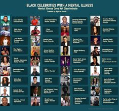 IN HONOR OF BLACK HISTORY MONTH The list of black celebrities is endless. These courageous people have paved theway for so many others to become singers, doctors, lawyers, athletes, politicians, ... #bipolar #infographic