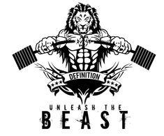 Zdjęcie Dojo, Fitness Tattoos, Fitness Logo, Gym Design, Logo Design, Beast Logo, Bodybuilding Logo, Bulldog Cartoon, Leo Tattoo Designs