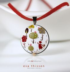 Little Red Riding Hood hand made polymer clay necklace. Made to order wearable art by Eva Thissen Gallery, via Flickr