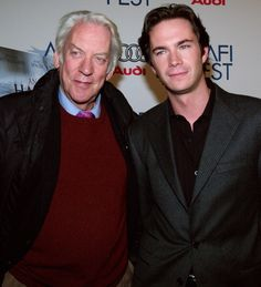"""EPK Donald Sutherland on James:  """"He was fun, he was lovely to work with. I developed a great friendship with James and Matthew and Tom Fell.  Uh, they're English actors and they worked very hard on their accents and they did wonderfully well, I think.  And James was someone that Courtney and I, together with Sissy, asked for.  And he was—he's the—the lynchpin of the movie.  The narrator.  And it's, uh, he has—he just brings that kind of intelligence and sobriety and wit to the screen."""""""