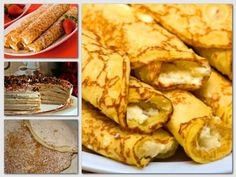 Snack Recipes, Cooking Recipes, Crepe Cake, Hungarian Recipes, Food Porn, Brunch, Food And Drink, Yummy Food, Favorite Recipes