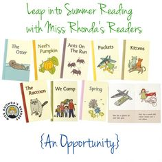 Eight delightful little books with short sentences that provide plenty of opportunities for sounding out words and the joy of reading a real story! Mostly phonetic. Some consonant blends and sight words. 8 pages each. Reading Help, Reading Time, Sounding Out Words, Leveled Books, Preschool Books, Early Readers, Early Literacy, Books To Buy, Summer School