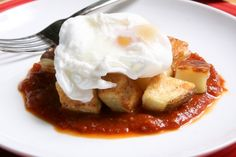 Patatas Bravas with Poached #Egg! Its a great picture of amazing food. We agree and think you might want to make it.  If you are looking to lose weight the safe, healthy and effective way, you have found the place at NutrivityWeightLoss.com.