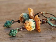 Autumn crusty rustic one of a kind handmade by HappyFishThings, $44.00