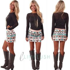 I love this but I would wear my cowboy boots instead. I never wear any other shoes but my boots!!!