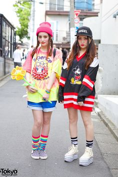 always spotted in Harajuku ... Goto sisters Mizuho (left, 21 years old)  Yurika (right, 24 years old)  | 11 June 2014 | #couples #Fashion #Harajuku (原宿) #Shibuya (渋谷) #Tokyo (東京) #Japan (日本)