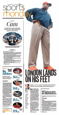 The Virginian-Pilot's Sports front page for Monday, Feb. 1, 2016.